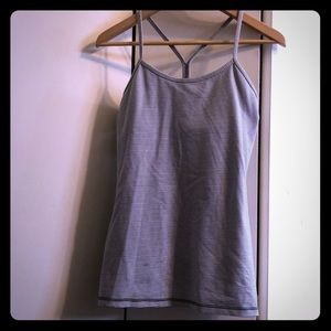 Grey/White Stripe Lululemon Tank